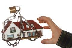 Taking locked house Stock Image