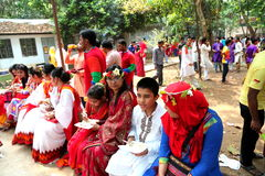 Taking lunch at bangladesh new year 1422 celebration Stock Photography