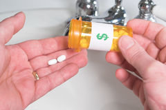 Taking Medication Stock Photography