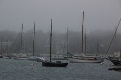 Boating On A Foggy Day Royalty Free Stock Photo