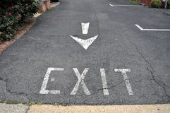 Taking my Exit Royalty Free Stock Image