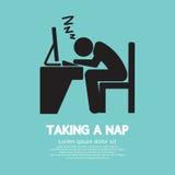 Taking a Nap Graphic Symbol royalty free illustration