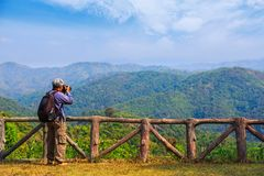 Taking nature scenery photo stock photos
