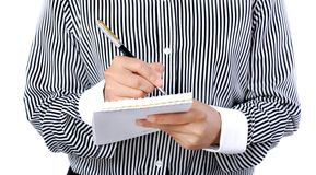 Taking note Royalty Free Stock Photo