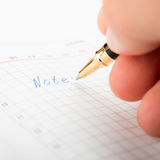 Taking Notes Royalty Free Stock Photography