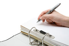 Taking Notes royalty free stock image