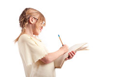 Taking notes Royalty Free Stock Photo