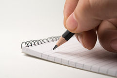 Taking notes Royalty Free Stock Images