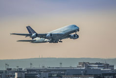 A380 taking off Royalty Free Stock Photos