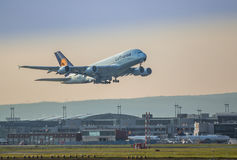 A380 taking off Stock Photography