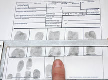 Taking off the fingerprints Stock Photos