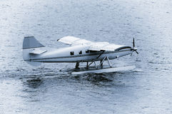 Taking off the small passenger plane. Stock Images