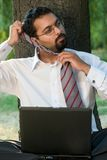 Taking off the tie royalty free stock photography