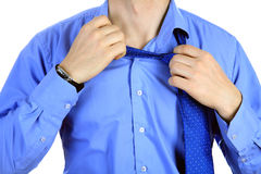 Taking off a tie Stock Image