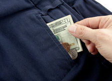 Taking Out Money Stock Image