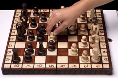 Taking out the pawn. Royalty Free Stock Image