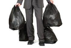 Taking out the trash stock photos