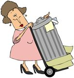 Taking Out The Trash stock illustration