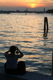 Taking photo. Of Venice lagoon royalty free stock images