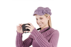 Taking a photo Royalty Free Stock Photo