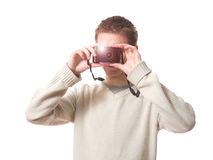 Taking photo Royalty Free Stock Photos