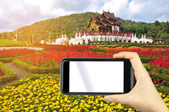 taking photo of beautiful Royal pavillion at Chaing mai, Thailan Stock Images