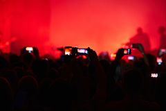 Taking photo at concert Stock Photography