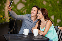 Taking a photo of our first date Royalty Free Stock Photography