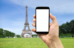 Taking the photo in paris Royalty Free Stock Photo