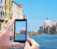 Taking photo of Venice Royalty Free Stock Photo