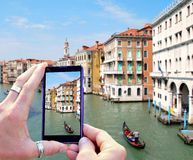 Taking photo of Venice Royalty Free Stock Image