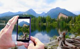 Taking a photo Stock Photography