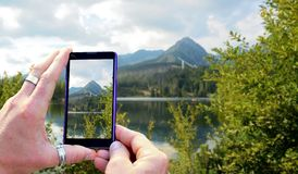 Taking a photo Stock Images