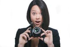 Taking photo stock images