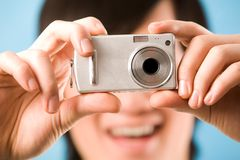 Taking photograph Royalty Free Stock Photo