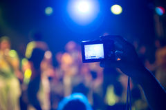 Taking photos at a concert Stock Image