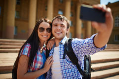 Taking photos on journey Royalty Free Stock Photography