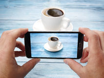 Taking photos with mobile phone. Royalty Free Stock Photos