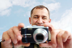 Taking photos Royalty Free Stock Photos