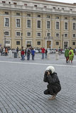 Taking photos at the Vatican Royalty Free Stock Images