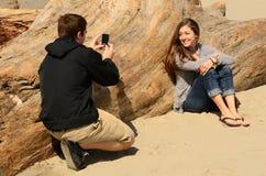 Taking Pics Royalty Free Stock Photography