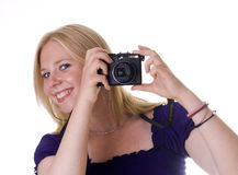 Taking a picture Stock Photography