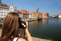 Taking picture Stock Photography