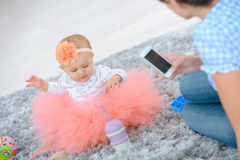 Taking picture baby Royalty Free Stock Photo