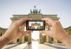 Taking a picture a brandenburg gate Royalty Free Stock Image