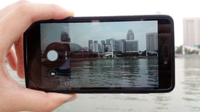 Taking Picture of City Singapore Stock Photos