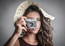 Taking a picture Royalty Free Stock Images