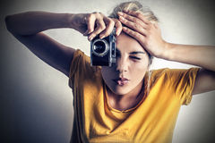Taking a picture Stock Photos