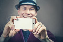 Taking picture with mobile phone Stock Images