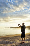 Taking a picture of a Peaceful Morning Sunrise Stock Photography